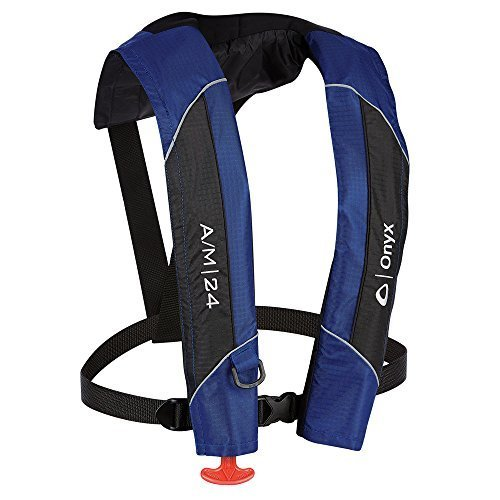 1 - Onyx A/M-24 Automatic/Manual Inflatable PFD Life Jacket - Blue by Onyx Outdoor