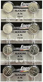 [ Strip of 8 ] Energizer A76/LR44 (A76BP), SR44, L1154, 1.5v Alkaline Batteries