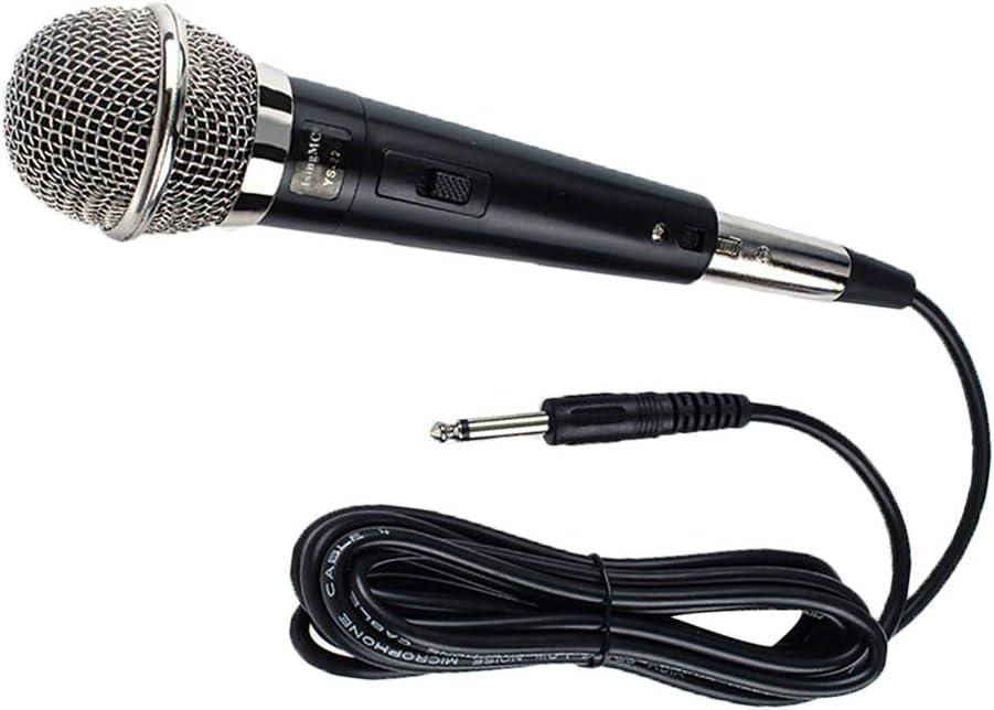 Kesilian YS-226 de Bobina móvil de Mano con Cable Etapa micrófono dinámico Canto del hogar KTV Reunión unidireccional Mic