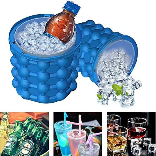 Eiskübel, Wiederverwendbare Silikon-Eiskübel Mit Deckel, Setzen 120 Große Eiswürfel Frei, Sparen Kreisförmigen Platz, Können Für Kühlräume, Cocktails Und Getränkewhisky Verwendet Werden