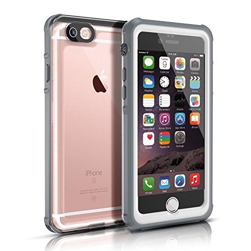 Funda Impermeable para iPhone 6/6s(4.7 Inch),Easylife IP68 Transparente Carcasa Anti-Agua A Prueba de Golpe Cerrado Cabalmente Perfectamente Port¨¢Til(Gris y Blanco)