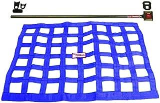 Southwest Speed Blue Racing Window NET & Push Button Installation KIT W/Hardware,18