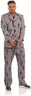 Fun Shack FN3990L Prisoner Grey Costume, Mens, Large