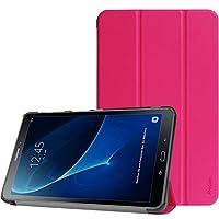 Entwickelt exklusiv für Galaxy Tab A 10,1 Zoll SM-T580 T585 (Nicht kompatibel mit anderen Geräten) Ultra-dünne und leichte harte Rückseite fügt minimalen Volumen hinzu und schützt gleichzeitig Ihr wertvolles Gerät Premium-PU-Leder außen und weiche Mi...