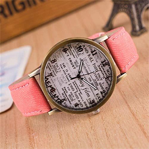 Orologio Uomini Tela Band Quartz Wristwatches British Vintage Graffiti Semplice Casual Garbled Personalità Donne Orologi Uomini Regalo Rosa