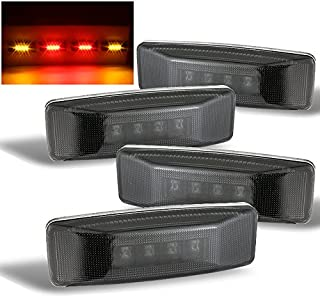 For Smoked 4Pcs 1994-2002 Dodge Ram 3500 [Dually Model] LED Red/Amber Rear Fender Marker Lights Set