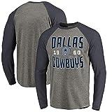 YUNMO T-Shirt de Rugby Dallas Cowboys Training Suit Competition Casual Sweat à Manches Longues (Size : S)