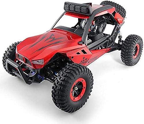 @LI Monster Truck 4WD 1 12 Allrad-Hochgeschwindigkeitsauto LED-Licht   25g-Lenkgetriebe Kollision Differential für Kinder Erwachsene geeignet,rot