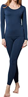 Thermal Underwear Women Ultra-Soft Set Base Layer Top & Bottom Long Johns with Fleece Lined Winter