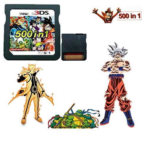 500 in 1 Game Cartridge DS Game Pack Card Compilations 64G Memory Card Super Combo Multicart for DS NDSL NDSi NDSi LL/XL 3DS 3DSLL/XL New 3DS New 3DS LL/XL 2DS New 2DS LL/XL