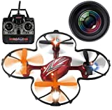 Haktoys HAK904C 4-Channel 2.4GHz RC Quadcopter w/Camera & LED Lights | 6-Axis Gyro Mini Drone, 2 Speed Modes, 360 Loop Function, SD Card Included - Colors May Vary