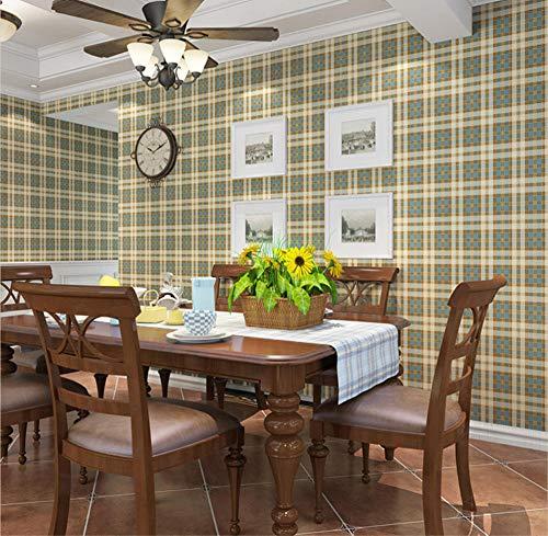 Moderne Einfachheit Tapete - Quadrat im englischen Stil 0.53x10m Grün Vliestapete TV Hintergrund Kinderzimmer Wohnkultur