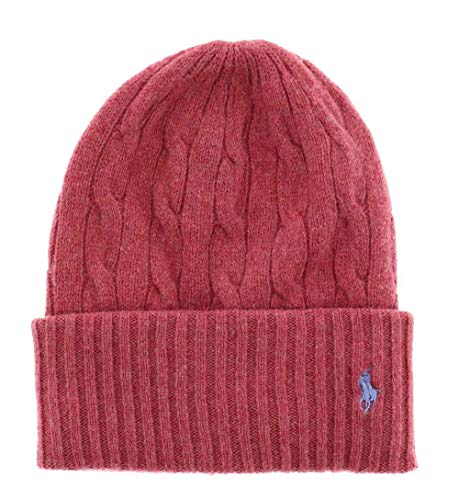Polo Ralph Lauren sombrero mujer Classic Cable Logo Beanie Red Slate