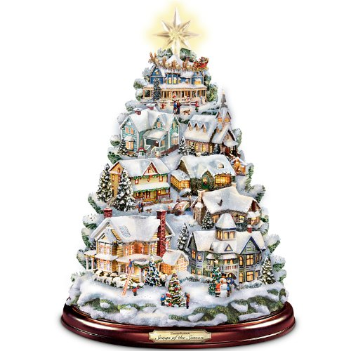 The Bradford Exchange Thomas Kinkade Christmas Tabletop Tree: Songs of The Season