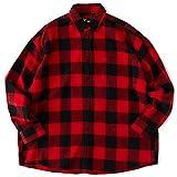 FAT Gigablok Shirt(エフエーティー フランネルシャツ) (TITCH, レッド)