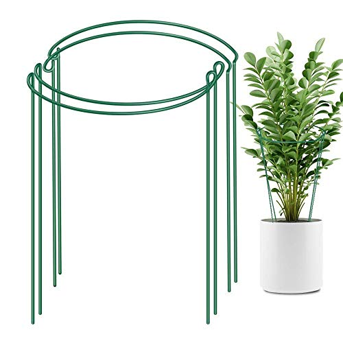 XHUENG Useful 2020 Garden 2pcs Half Round Plant Support Ring Garden Tool Solid Steel Rust Semi-Circular Plant Border Wire Hoop Plant Frame (Color : 20x35cm, Size : 2pcs)
