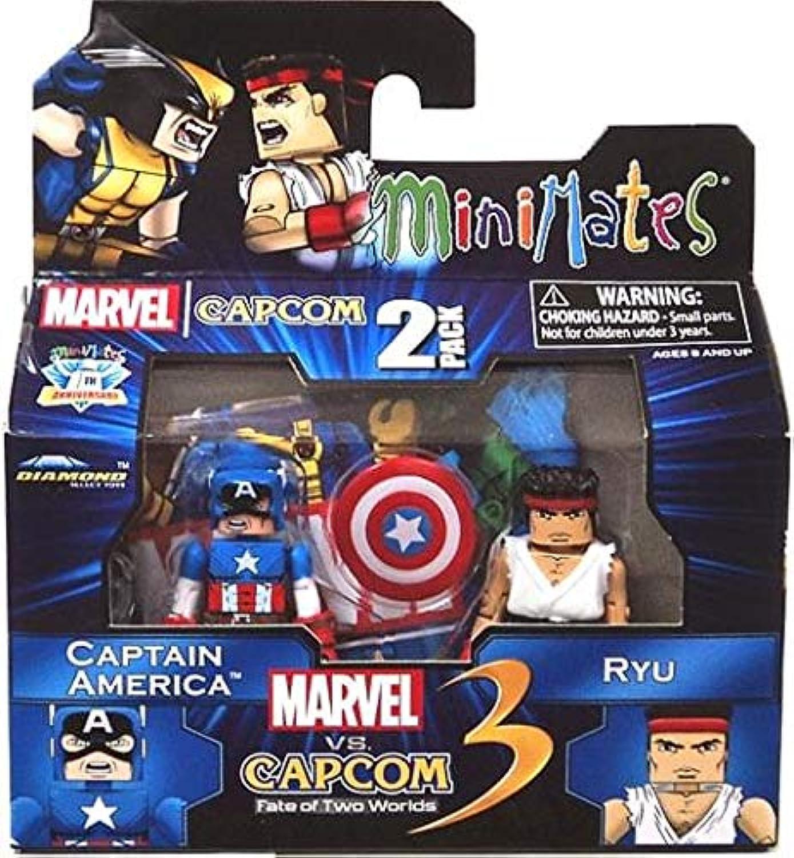 Marvel Vs Capcom 3 Minimates Series 3 Mini Figure 2Pack Captain America Vs. Ryu