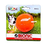 Bionic by Outward Hound Tough Dog Ball, Durable Fetch Toy for Dogs, Medium, Orange