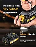 Zoom IMG-1 avvitatore a batteria 20v topelek