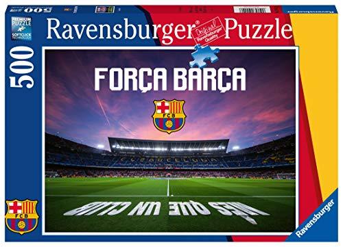 Ravensburger Puzzle, Puzzle 500 Piezas, Camp Nou, Puzzles para Adultos, Fc Barcelona, Rompecabezas Ravensburger de Alta Calidad