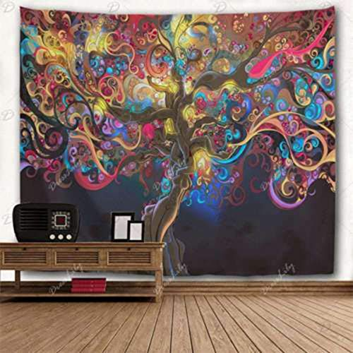 EgBert Tapisserie Wandbehang Psychedelic Baum Wandteppiche Tagesdecke Home Decoration - 210Cm X 150Cm
