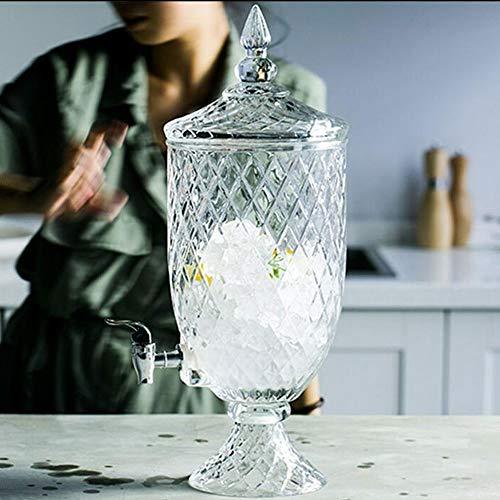 WANGXINQUAN Vaso de jugo de fruta para bebidas con grifo Western Restaurant Hotel con botellas de agua fría Contenedores de vino llenos de 19 x 52 cm, 4,5 l (color: B)