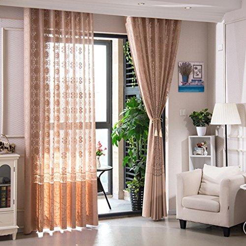 Met Love Le jacquard à haute teneur examine les panneaux respirables de gaze de balcon de balcon de salon 2 (taille : L:2.5*H:2.7m)