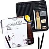 Künstler-Skizzen-Set - 22-teiliges Essential-Set - Riesige Auswahl an Premium-Skizzenartikeln -