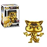 Funko Pop! Marvel Studios 10th Anniversary #420 Guardians of The Galaxy Rocket Raccoon Gold Chrome Exclusive Figure