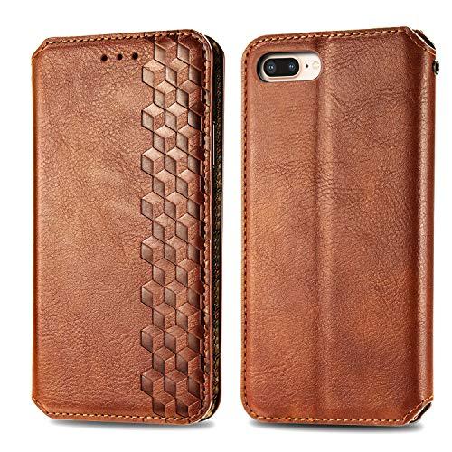 Trugox Funda Cartera para iPhone 8 Plus/7 Plus/6S Plus de Piel con Tapa Tarjetero Soporte Plegable Antigolpes Cover Case Carcasa Cuero para Apple iPhone 7 Plus/8 Plus/6 Plus - TRSDA120405 Marr