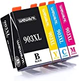 Wewant 903XL Compatible Cartouches d'encre Remplacer pour HP 903XL 903 Travailler avec HP Officejet 6950 Officejet Pro 6950 6960 6970 (1 Noir, 1 Cyan, 1 Magenta, 1 Jaune)