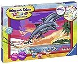 Ravensburger Malen nach Zahlen 28907 - Welt der Delfine
