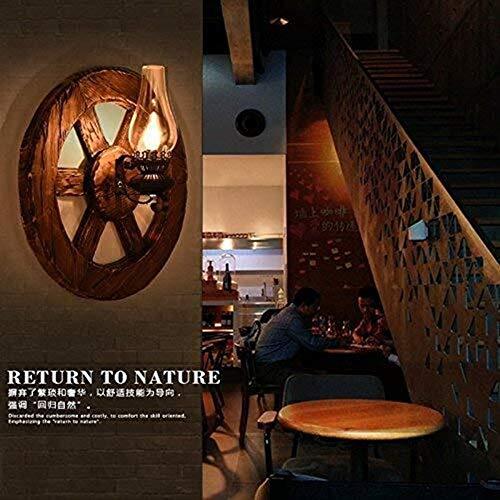 Yhtech nórdico Lámparas de pared, personalizada y elegante estilo industrial Salón Dormitorio restaurante de pared de luz Loft Café barra de madera barco de madera Luz a la pared, el camino Estudio de