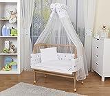 WALDIN Cuna colecho para bebé con equipamiento completo, natural sin...