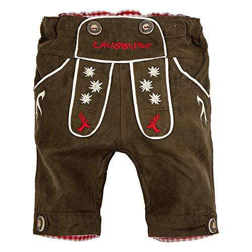 BONDI baby-knikbocker in de beste kwaliteit, maat 104 I Mooie jongensbroek in bruin I driekwartlange broek voor kinderen en peuters I Shorts van imitatieleer I Prachtige & comfortabele kinderkleding
