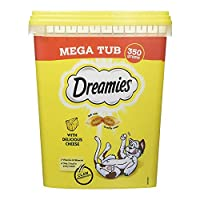 DREAMIES are available in 7 deliciously tasty varieties: Chicken, Beef, Duck, Salmon, Cheese, Turkey and Tuna Dual textured cat treats irresistible to cats Only 2 kcal in every cat treat Dual textured cat treats irresistible to cats Deliciously crunc...