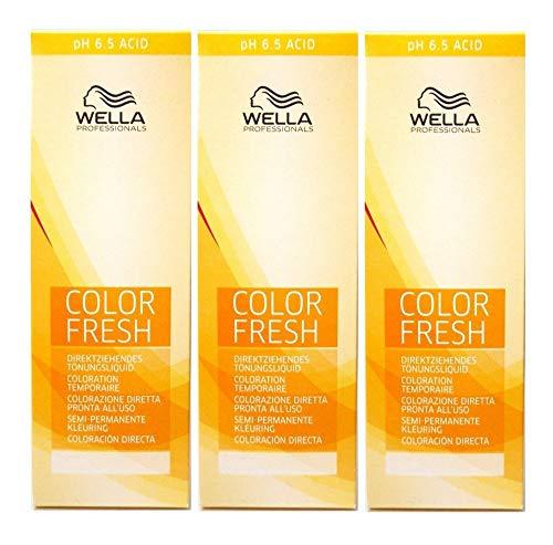 3 er Pack Wella Color Fresh Tönungsliquid 10/39 HELL LICHTBLOND GOLD-CENDRÉ 75 ml