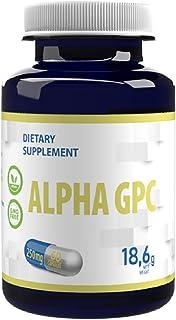 Alpha GPC 250 mg 60 Veganskapslar Biotillgänglig kolin, nootropisk, för minne, koncentration och fokus, dopamin och seroto...