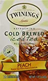 Twinings of London Cold Brew Teabags, Peach, 1.41 Ounce