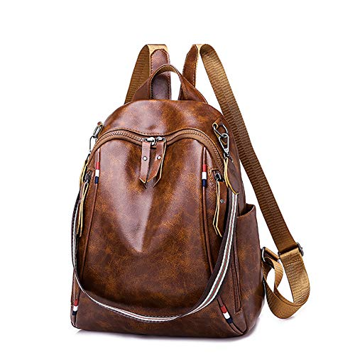 CAOLU PU lederen dames schooltas kan worden gebruikt als een handtas schoudertas rugzak