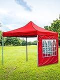 Pavillondach Ersatzbezug,Instant Canopy Wasserdicht Partyzelt Gartenzelt Ersatzdach für Garten Pavillon Sofortüberdachung , Tasche Instant Shelter Faltzelt für Camping Urlaub,Sonnenschutz (Rot 3M)