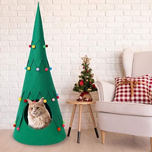 Freshwater Tienda de campaña para mascotas para perros, cachorros, gatos, árbol de Navidad, casa de perro, casita de cojín para mascotas, interior y exterior