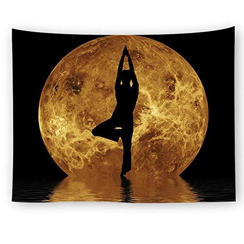 KHKJ Tapiz Indio Colgante de Pared psicodélico Chakra Mandala tapices Hippie Boho decoración meditación Yoga Pared Alfombra Manta A3 200x150cm
