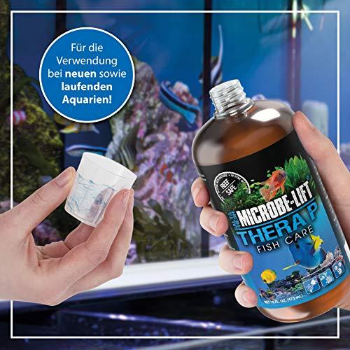 MICROBE-LIFT TheraP – (Qualitäts-Bakterienpräparat, zur optimalen Tierpflege in jedem Meerwasser & Süßwasser Aquarium, für optimale Gesundheit und Wachstum, reduziert Ausfälle, 100 % biologisch, Wasseraufbereiter, ausreichend für 50.400 Liter), 3785 ml - 4