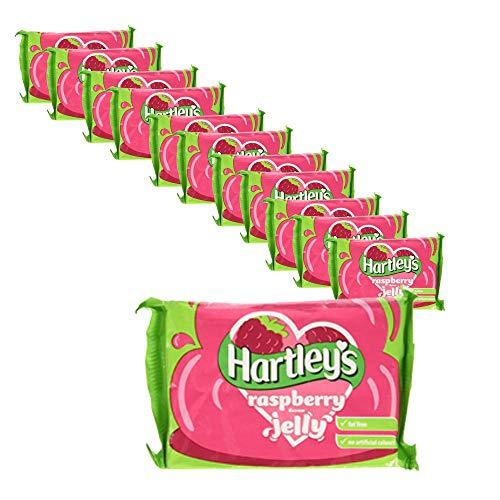 Hartleys - Cubetti di gelatina al lampone, 12 x 135 g
