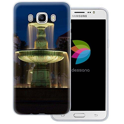dessana München City transparente Silikon TPU Schutzhülle 0,7mm dünne Handy Tasche Soft Case für Samsung Galaxy J7 (2016) Wittelsbacher Brunnen