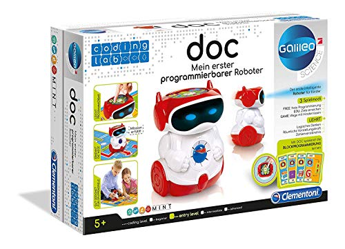Clementoni- Doc Robot Educator Parlant Programmable (version François), 52252, ...