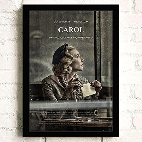Weijiajia Película romántica clásica Europea y Americana Carol Picture Canvas Posters Sala de Estar Dormitorio Arte Decoración de la Pared Hogar 50x70cm F-1600