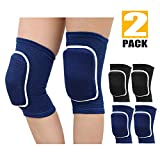 2 Pair Sports Protective Knee Pads Non-Slip Breathable Flexible Elastic Knee Pad Protector for Volleyball Dance Running Basketball Baseball Wrestling Cycling Skiing (XS for 5-12 Years Kids)
