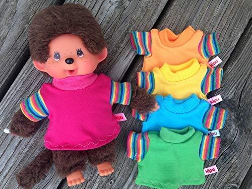 Puppenkleidung handmade für MONCHICHI oder Teddy Gr. 20 cm Bekleidung Shirt mit Regenbogen-Ärmelchen NEU